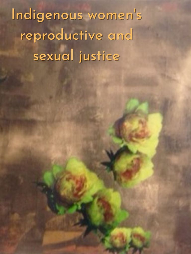 Artwork for the project Indigenous women's reproductive and sexual justice. Artwork by Jannica Hoskins